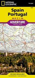 Spain and Portugal Adventure Map 3307 by National Geographic Maps