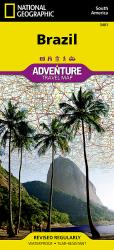 Brazil Adventure Map 3401 by National Geographic Maps