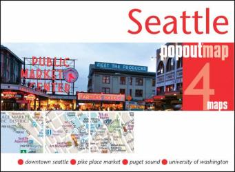 Seattle, Washington, PopOut Map by PopOut Products