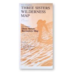 Three Sisters Wilderness Map by Geo-Graphics