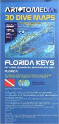 Florida Keys 3-D Dive Map by Arttomedia