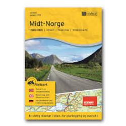 Middle Norway (Midt-Norge) Road Map by Nordeca