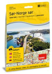 Southern Norway (Sor-Norge sor) Road Map by Nordeca
