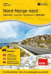 Northern Norway (Nord-Norge nord) Road Map by Nordeca