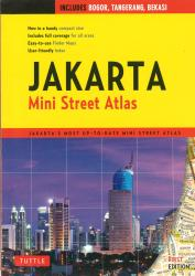 Jakarta, Indonesia, Mini Street Atlas by Tuttle publishing