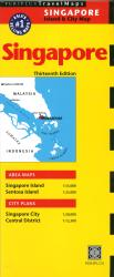 Singapore Island & City Map by Periplus Editions