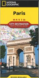 Paris, France Destination Map and Travel Guide by National Geographic Maps