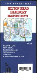 Hilton Head / Beaufort / Bluffton / Beaufort Co., South Carolina Street Map by GM Johnson