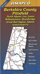 Berkshire County, Massachusetts Road Map by Jimapco