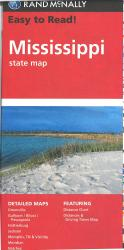 Mississippi Easy-To-Read Road Map by Rand McNally