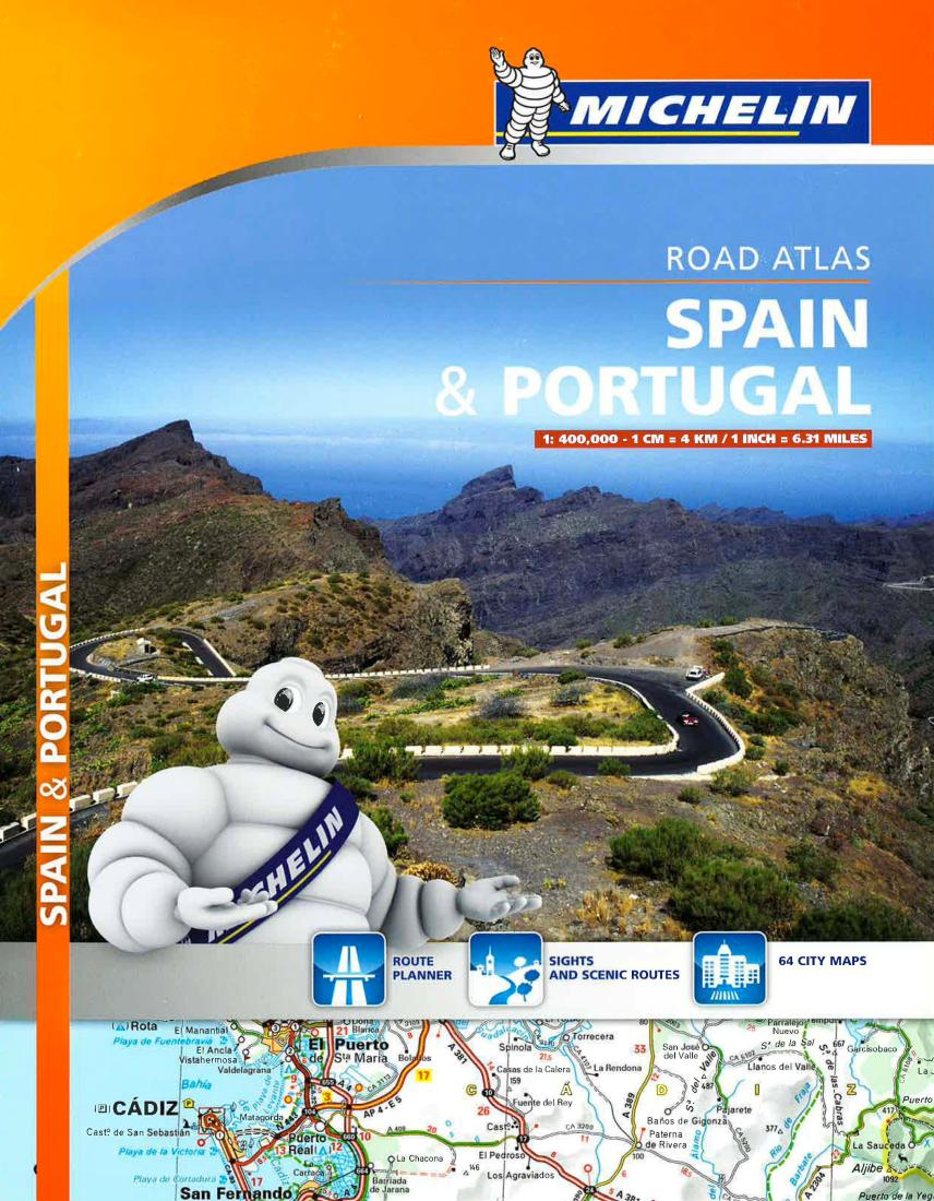 Spain and Portugal, Road Atlas (460) by Michelin Maps and Guides on driving road map spain, driving map of southwest united states, driving road map pena portugal, road map of portugal, road map spain portugal, driving map of france, driving distances europe map, large map of portugal,
