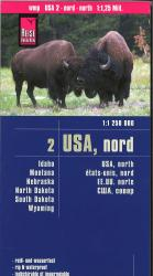 Northern United States Road map by Reise Know-How Verlag