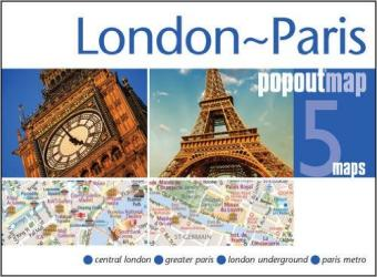 London to Paris, PopOut Map by PopOut Products, Compass Maps Ltd.