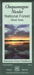 Chequamegon Nicolet National Forest - West Half Map by United States Forest Service