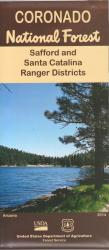 Coronado National Forest Map - Safford & Santa Catalina Ranger Districts by United States Forest Service