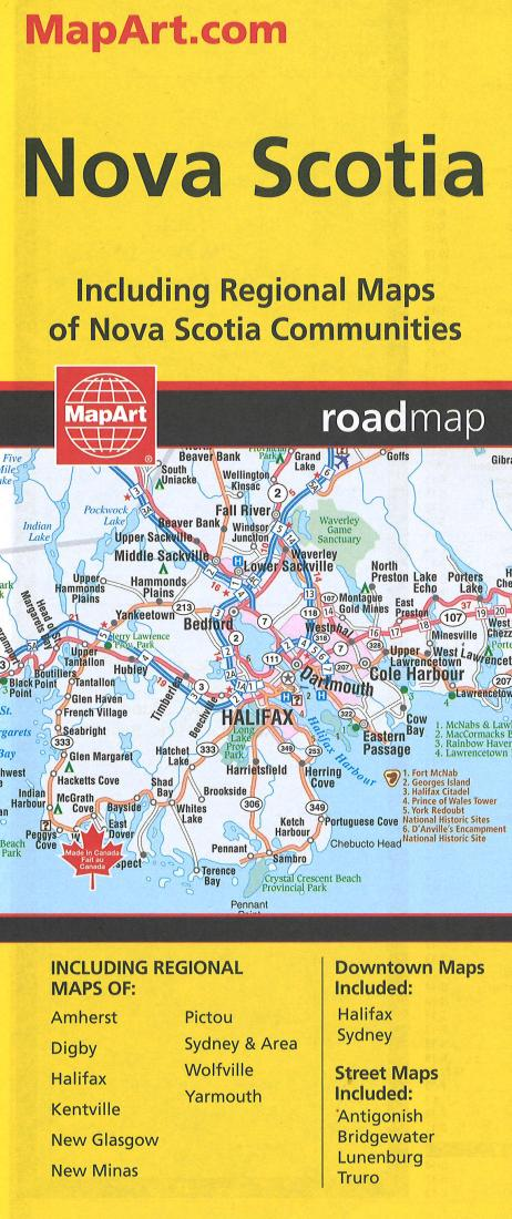 Map Of Canada Halifax.Nova Scotia Road Map By Canadian Cartographics Corporation