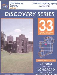 Leitrim, Longford, Roscommon, Sligo, Ireland Discovery Series #33 by Ordnance Survey (Ireland)