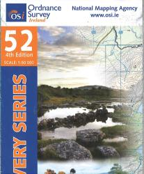 Clare, Galway, Ireland Discovery Series #52 by Ordnance Survey (Ireland)
