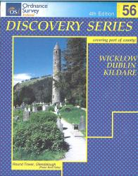 Wicklow, Dublin & Kildare, Ireland Discovery Series #56 by Ordnance Survey (Ireland)