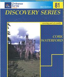 Cork, Waterford, Ireland Discovery Series #81 by Ordnance Survey of Ireland