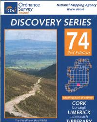 Counties Cork, Limerick, Tipperary, and Waterford, Ireland Discovery Series #74 by Ordnance Survey (Ireland)