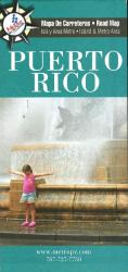 Puerto Rico Island & Metro Area Road Map by Metrodata, Inc.