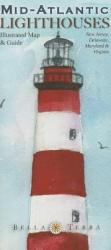 Mid-Atlantic Lighthouses Map by Bella Terra Publishing LLC