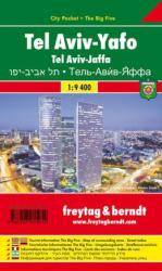 Tel Aviv Jaffa, City Pocket Map by Freytag, Berndt und Artaria