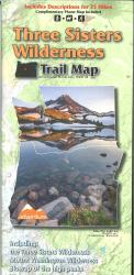 Three Sisters Wilderness Trail Map by Adventure Maps