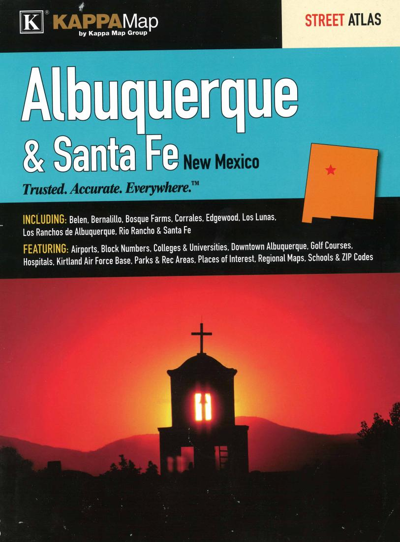 Albuquerque and Santa Fe, New Mexico, Atlas by Kappa Map Group