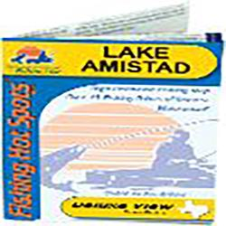Amistad Reservoir Fishing Map by Fishing Hot Spots
