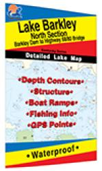 Lake Barkley North Fishing Map (Barkley Dam to Hwy 68/80 Bridge - KY) by Fishing Hot Spots