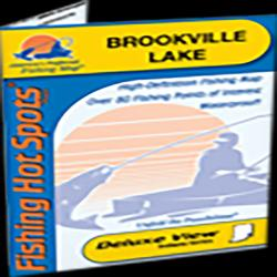 Brookville Lake Fishing Map by Fishing Hot Spots