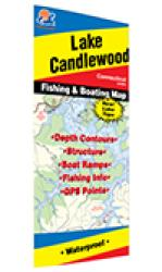 Candlewood Lake Fishing Map by Fishing Hot Spots
