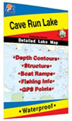 Cave Run Lake Fishing Map by Fishing Hot Spots