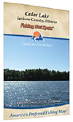 Cedar Lake Fishing Map by Fishing Hot Spots