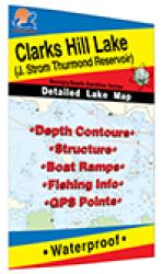 Clarks Hill Lake (J. Strom Thurmond - GA/SC) Fishing Map by Fishing Hot Spots