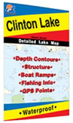 Clinton Lake (Illinois) Fishing Map by Fishing Hot Spots