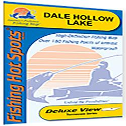 Dale Hollow Lake Fishing Map by Fishing Hot Spots