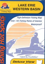 Lake Erie Fishing Map - Western Basin Fishing Map by Fishing Hot Spots
