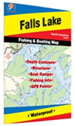 Falls Lake Fishing Map by Fishing Hot Spots