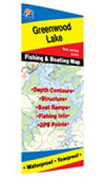 Greenwood Lake Fishing Map by Fishing Hot Spots