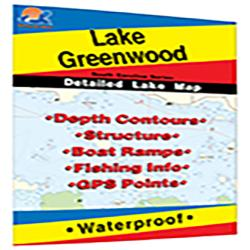 Lake Greenwood Fishing Map by Fishing Hot Spots