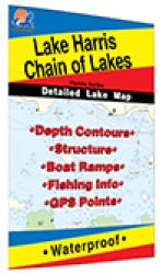 Harris Chain of Lakes Fishing Map by Fishing Hot Spots