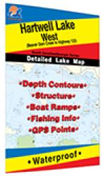 Hartwell Lake-West Fishing Map by Fishing Hot Spots