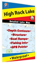 High Rock Lake Fishing Map by Fishing Hot Spots