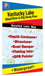 Kentucky Lake-Central (Blood River to Big Sandy - TN/KY) Fishing Map by Fishing Hot Spots