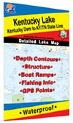 Kentucky Lake-North (Kentucky Dam to KY/TN Line) Fishing Map by Fishing Hot Spots