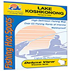 Lake Koshkonong/Rock River Fishing Map (Jefferson Co) by Fishing Hot Spots