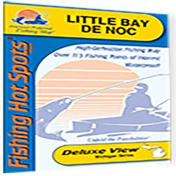 Little Bay de Noc Fishing Map by Fishing Hot Spots